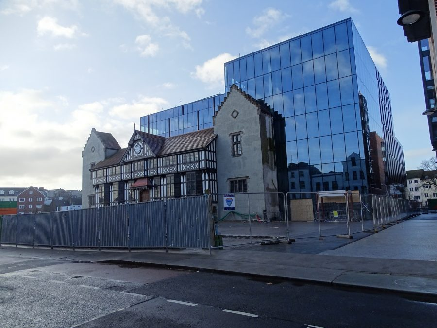 Former Medieval Corporation of Cork district, now the premises of the Counting House and office and student apartments on the former Beamish and Crawford site (picture: Kieran McCarthy)