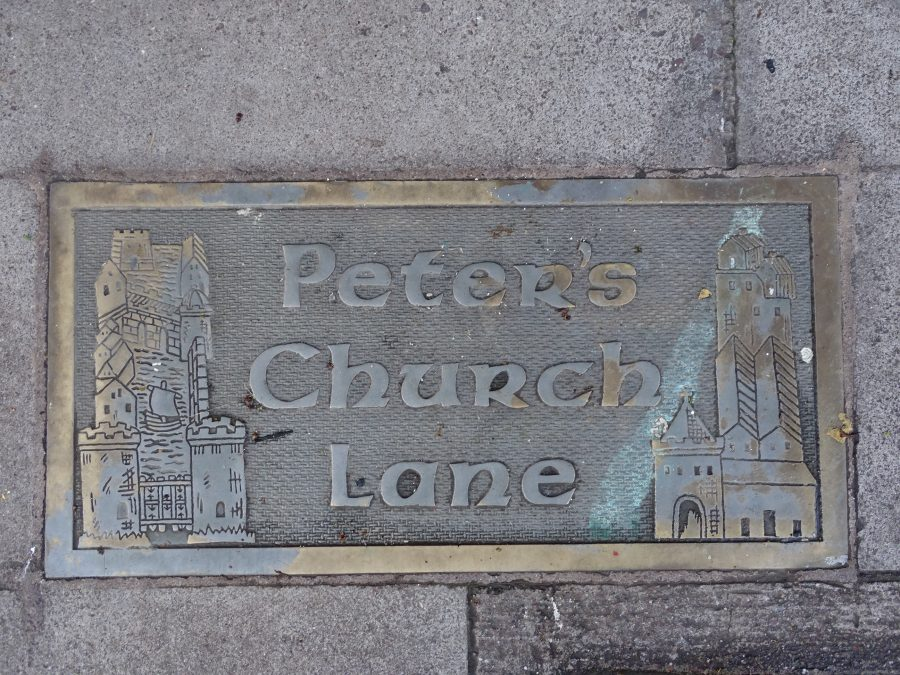 St Peter's Church Lane plaque, present day (picture: Kieran McCarthy)