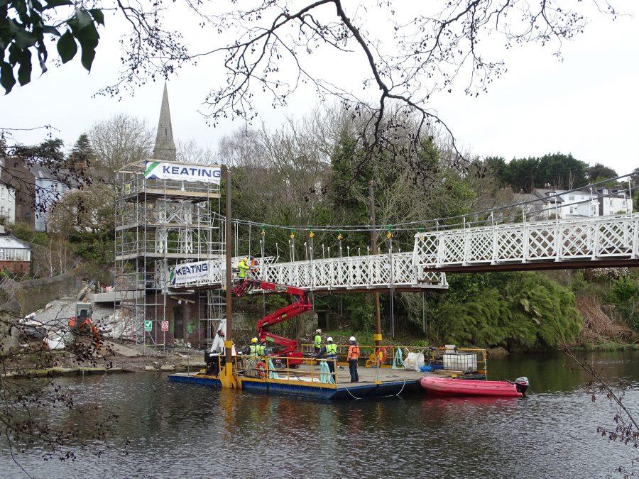 Dismantling Daly's Bridge, March 2020 (picture: Kieran McCarthy)