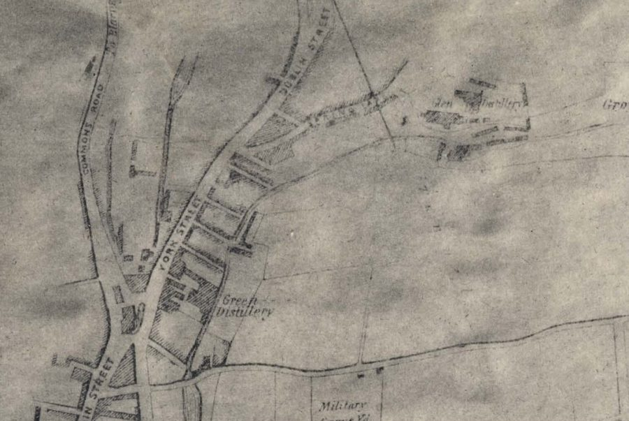 Map of Green Distillery, Blackpool 1852 (source: Cork City Library)