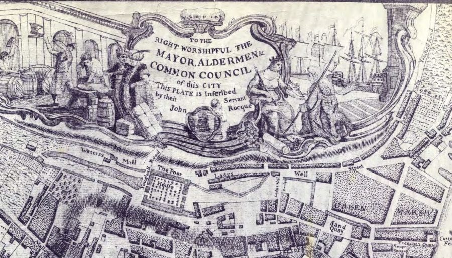 Map of Poor House and Kiln River, Blackpool, 1773 (source: Cork City Library)