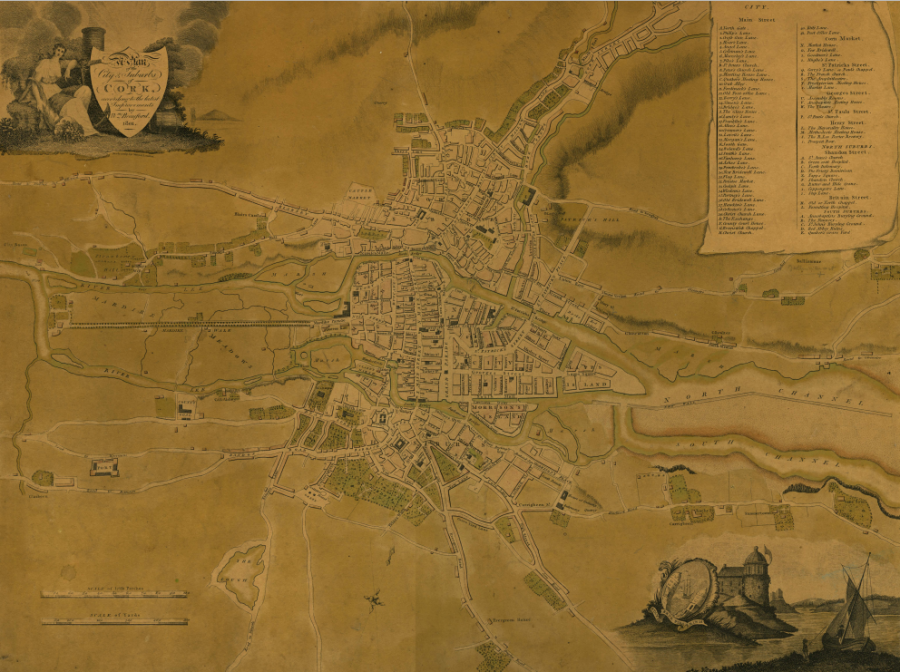 Beauford's Map of Cork, 1801 (source: Cork City Library)