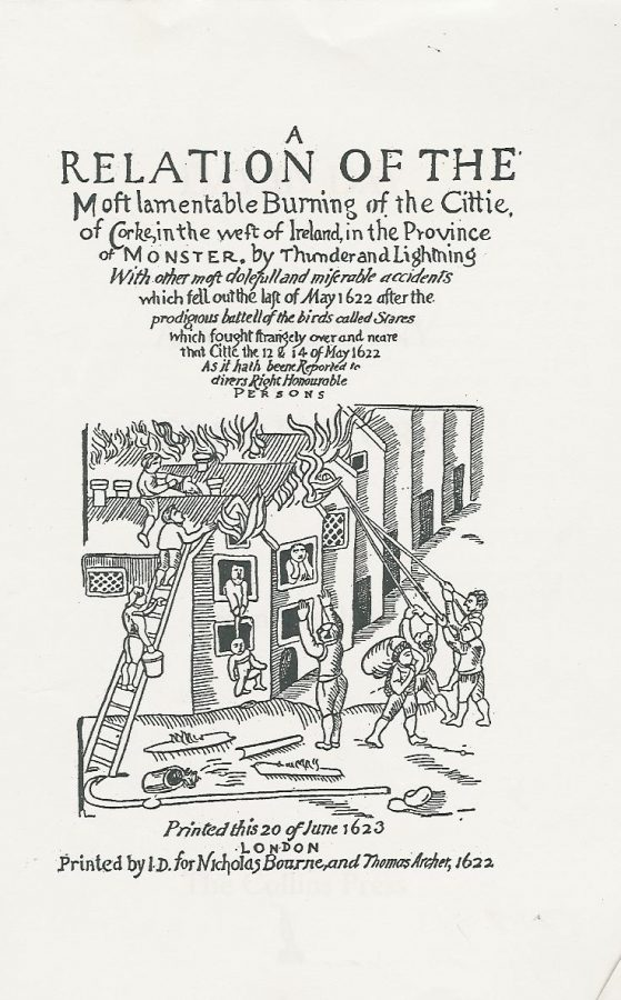 Pamphlet, Burning of Cork, May 1622 (source: Cork City Library)