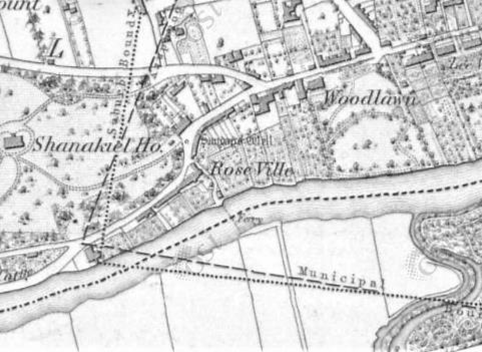 Ferry Point at the Mardyke, from 1842 Ordnance Survey of Ireland (source: Cork City Library)