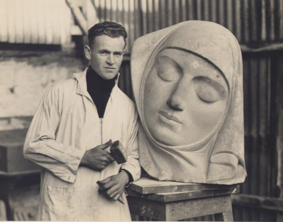 Seamus Murphy in his Blackpool Studio (source: Cork City Library)
