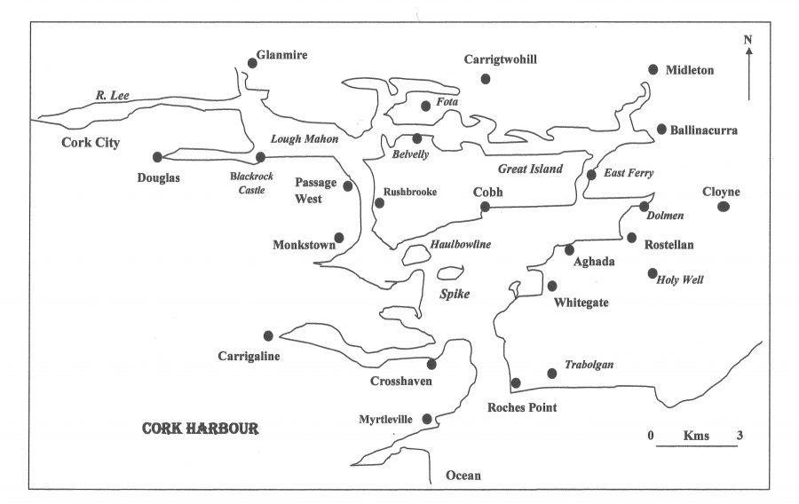 Map of Cork Harbour by Kieran McCarthy