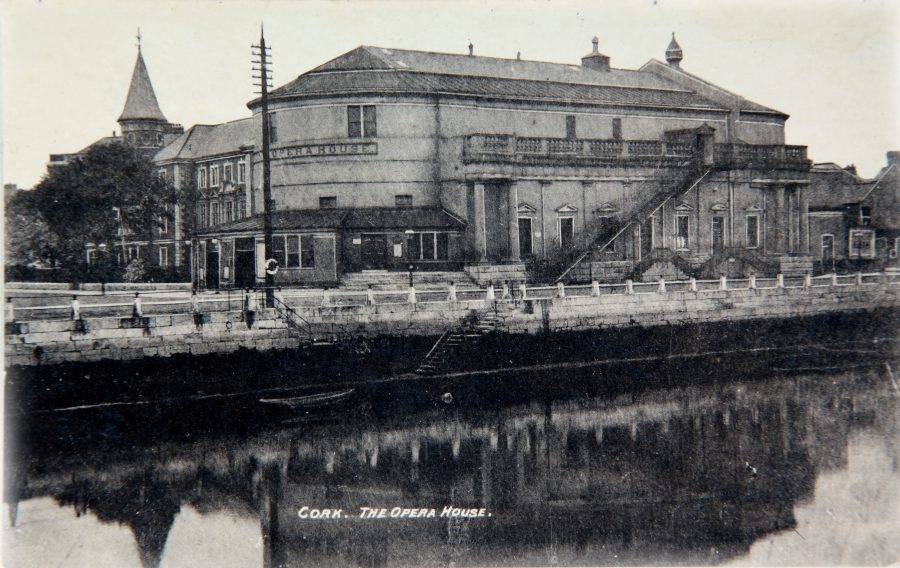 Postcard of the old Cork Opera House, early twentieth century from Cork City Through Time by Kieran McCarthy and Dan Breen.