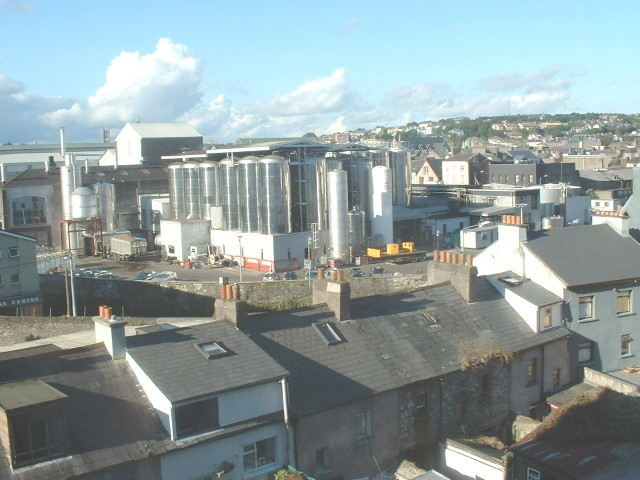 Former Beamish and Crawford site from Elizabeth Fort, September 2003 (picture: Kieran McCarthy)