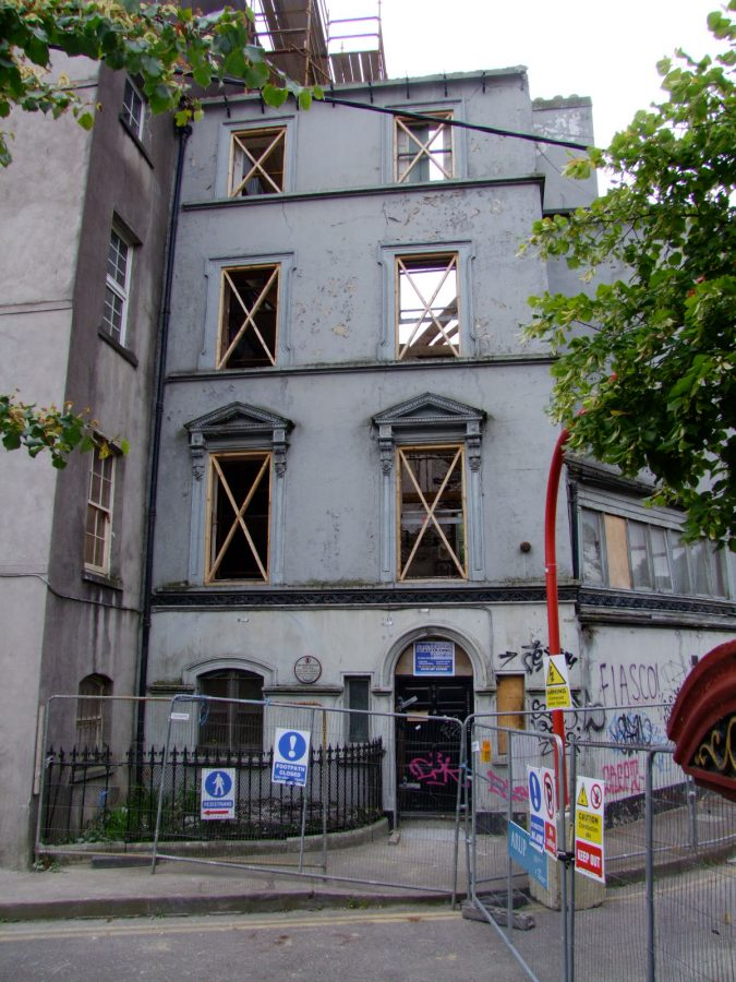 Empty shell of Boole House on Grenville Place, July 2010 (picture: Kieran McCarthy)