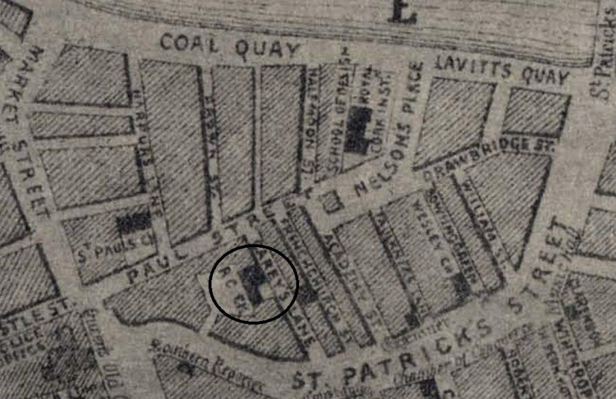 Carey's Lane Chapel, 1852 (source: Cork City Library)