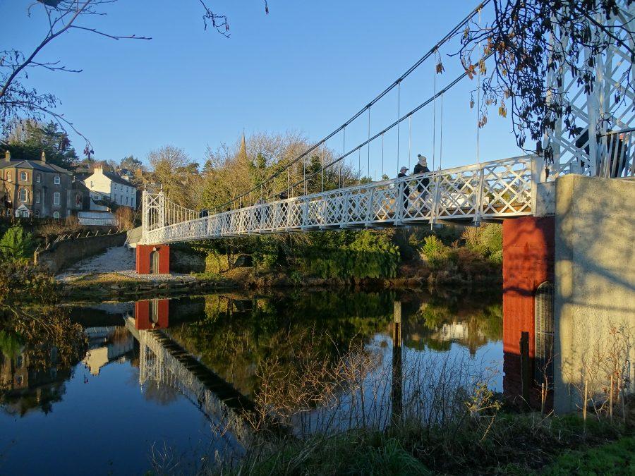 Reflections Upon a River at Daly's Bridge, AKA The Shakey Bridge, Cork, 3 January 2021 (picture: Kieran McCarthy)