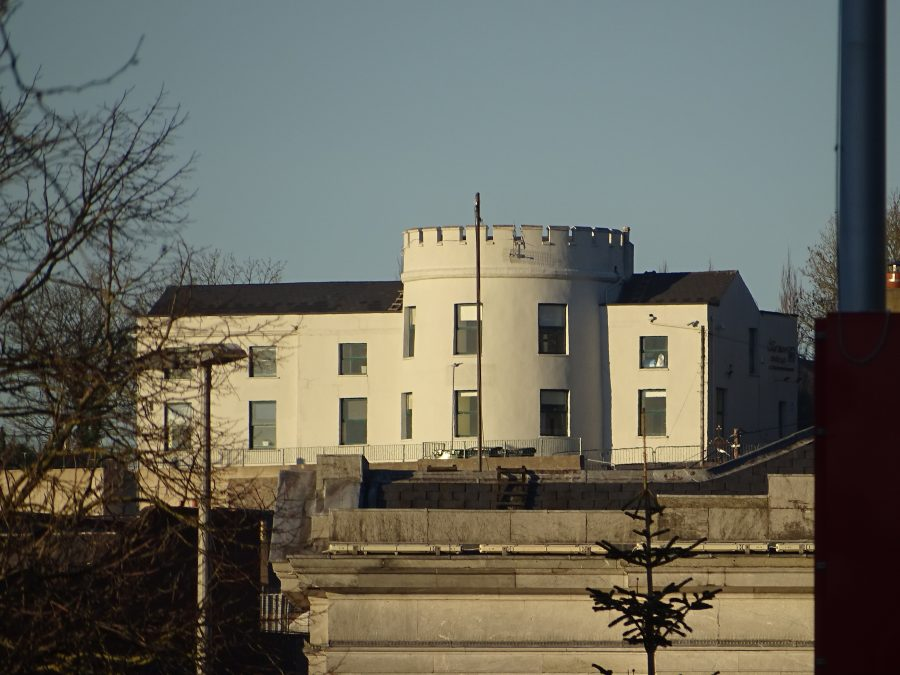 Former Windmill tower (centre), now Bruce College, top of St Patrick's Hill, Cork, present day (picture: Kieran McCarthy)