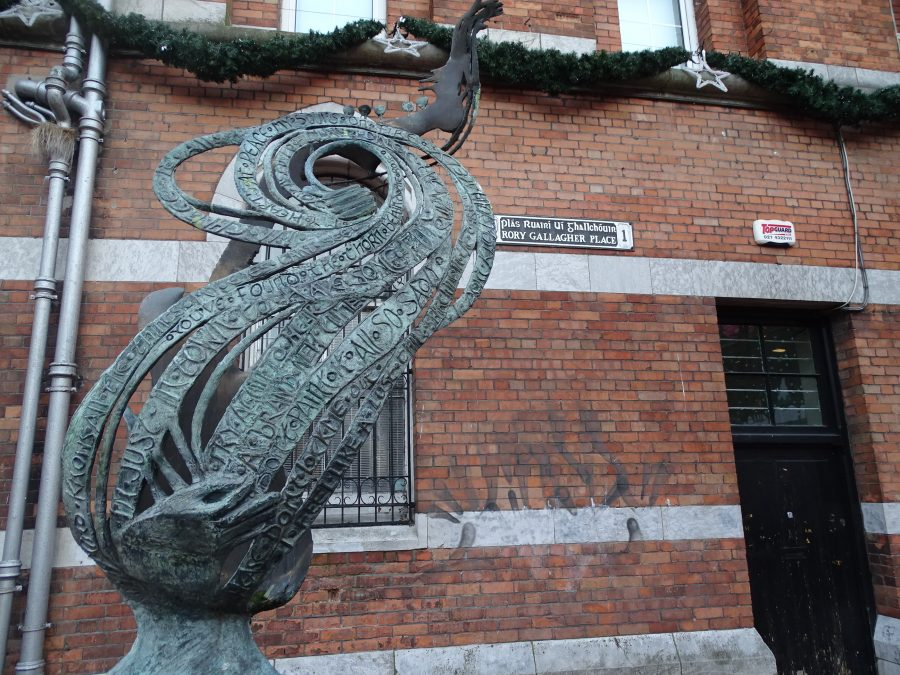 Rory Gallagher Memorial at Rory Gallagher Place, present day (picture: Kieran McCarthy)