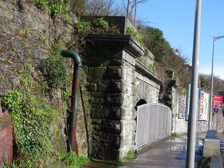 Top of entrance to railway tunnel, Lower Road, present day (picture: Kieran McCarthy)