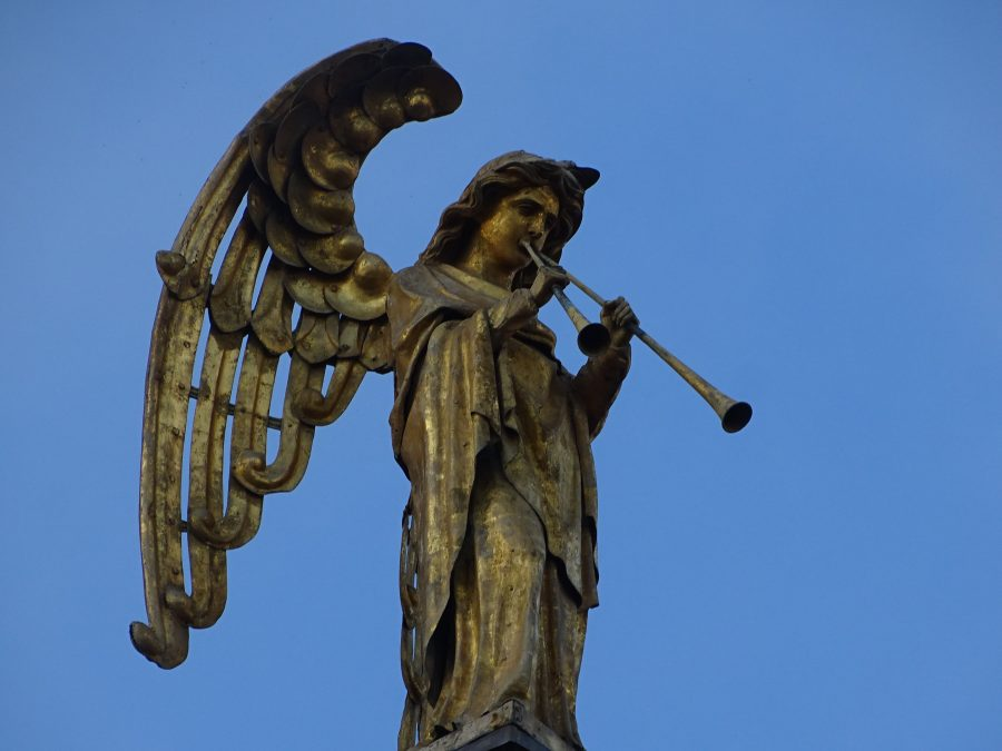 Golden Angel, Eastern face, St Finbarre's Cathedral, present day (picture: Kieran McCarthy)
