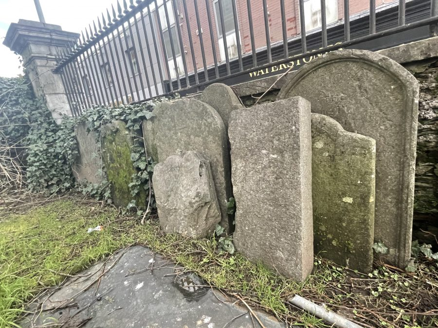 Remaining headstones at former St Paul's Church graveyard, Cork, present day (picture: Kieran McCarthy)