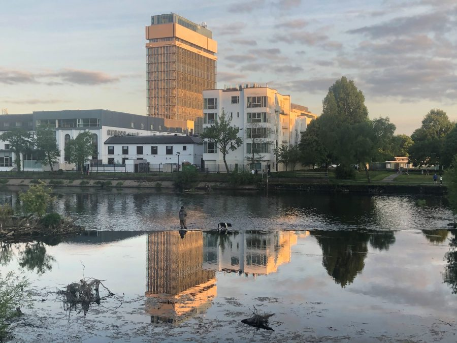 Sunset at Cork County Hall, Cork, May 2020 (picture: Kieran McCarthy)