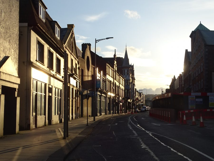 Sunset on MacCurtain Street, present day (picture: Kieran McCarthy)