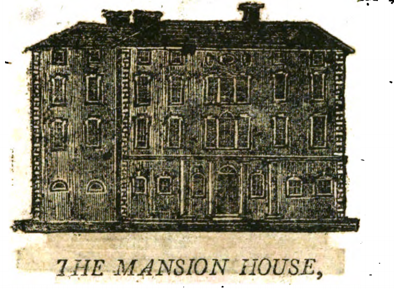 Mansion House, Cork, 1810 from William West, A Directory and Picture of Cork and its Environs (source: Cork City Library)