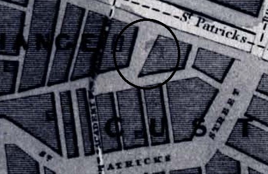 Nelson's Quay from Chalmer's Survey Map of Cork, 1832 (source: Cork City Library)