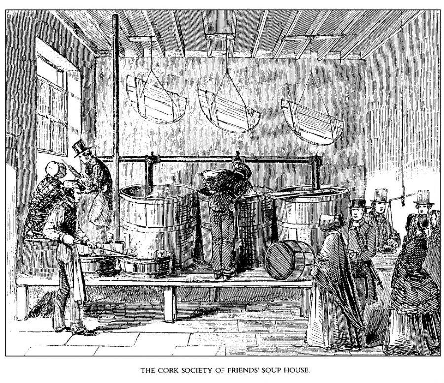 Quaker Soup Kitchen, Barrack Street from Illustrated London News (source: Cork City Library)