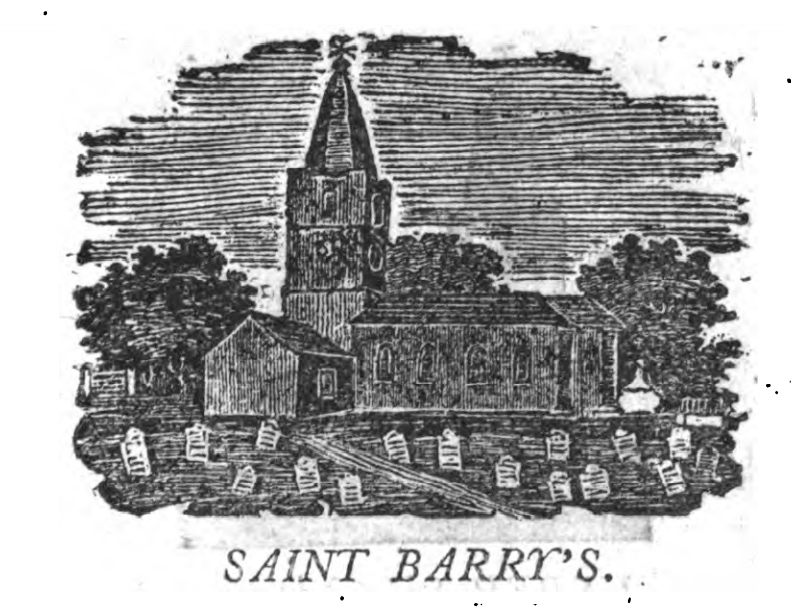 St Finbarre's Cathedral, Cork, 1810 from William West, A Directory and Picture of Cork and its Environs (source: Cork City Library)