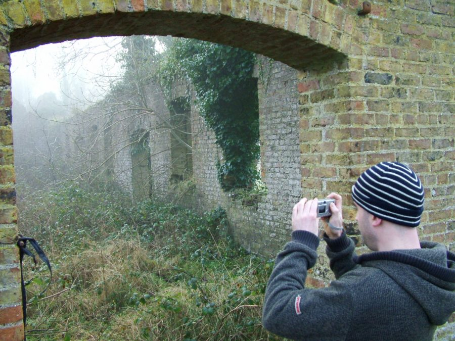 Tour with Jenny Webb of old Gunpowder Mills site, Ballincollig, Cork, January 2006 (picture: Kieran McCarthy)