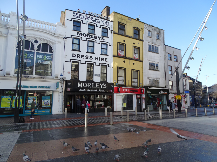 Site of the gate of Watergate, view from Daunt's Square, Cork (picture: Kieran McCarthy)
