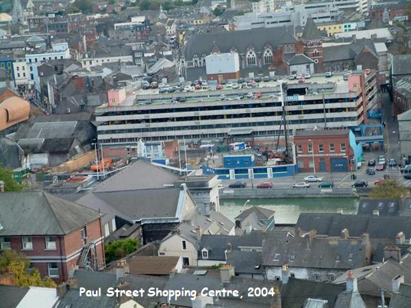 Paul Street Shopping Centre, Cork from St Anne's Church, Shandon, 2004 (picture: Kieran McCarthy)