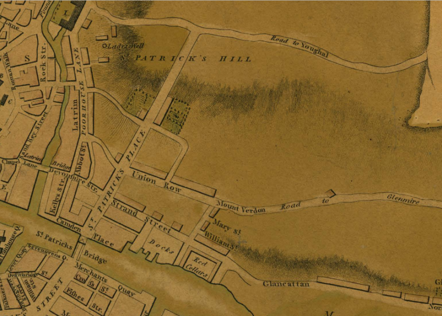 St Patrick's Hill, Cork, 1801 (source: Cork City Library)