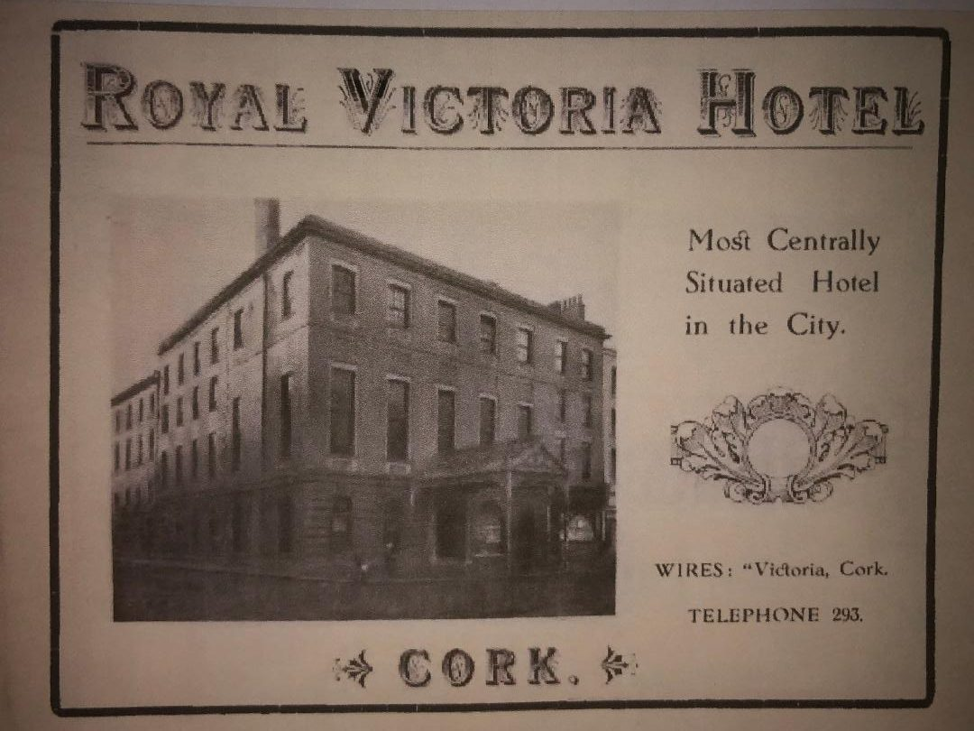 Advertisement for Royal Victoria Hotel, St Patrick's Street, 1919 (source: Cork City Library)