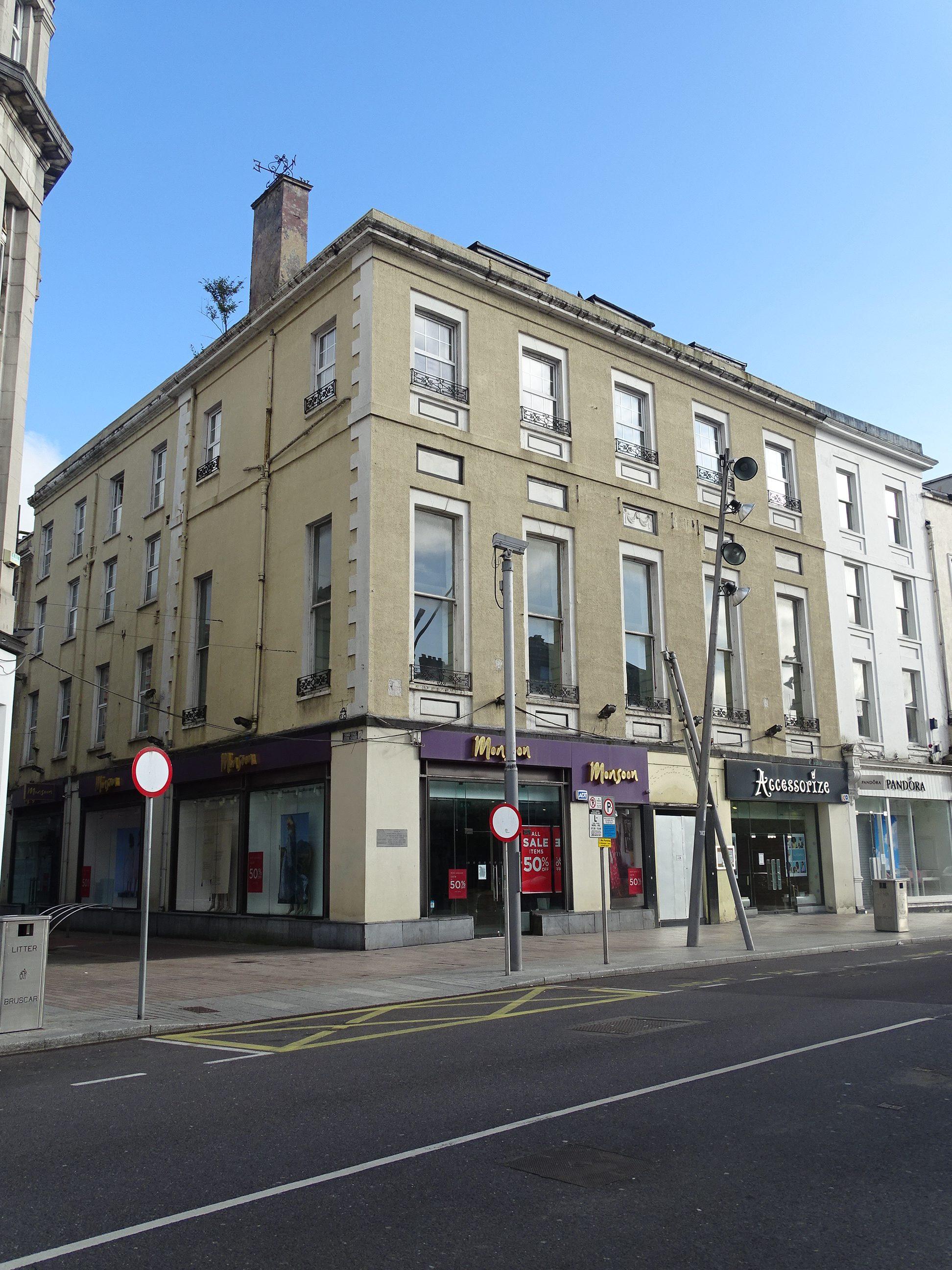Former site of Victoria Hotel, St Patrick's Street, Cork, present day (picture: Kieran McCarthy)