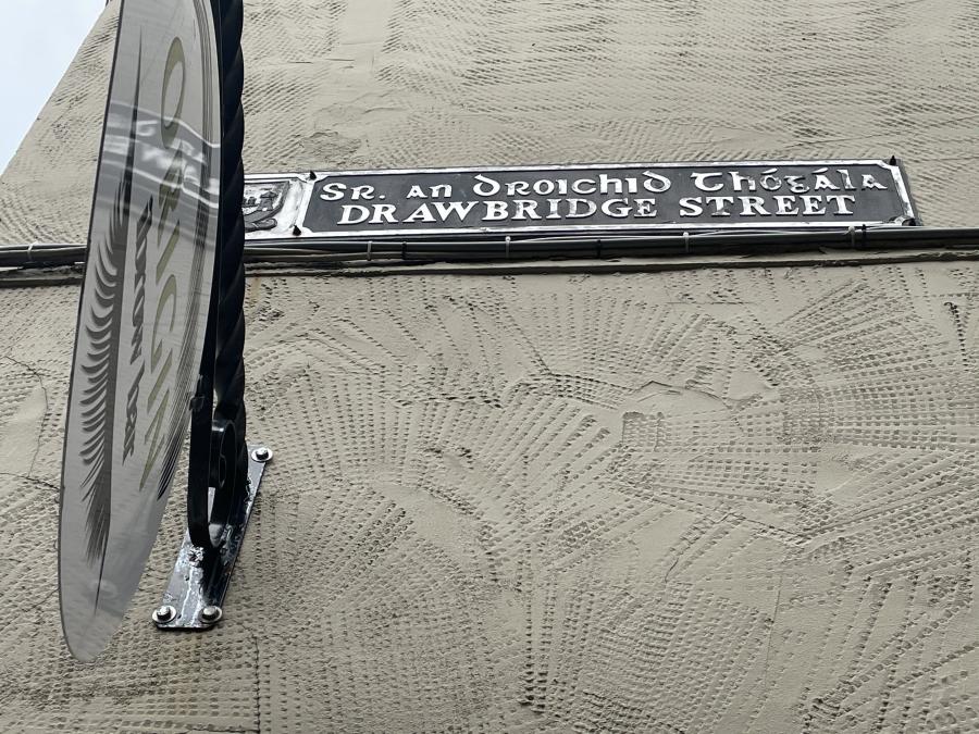 Drawbridge Street sign, present day (picture: Kieran McCarthy)