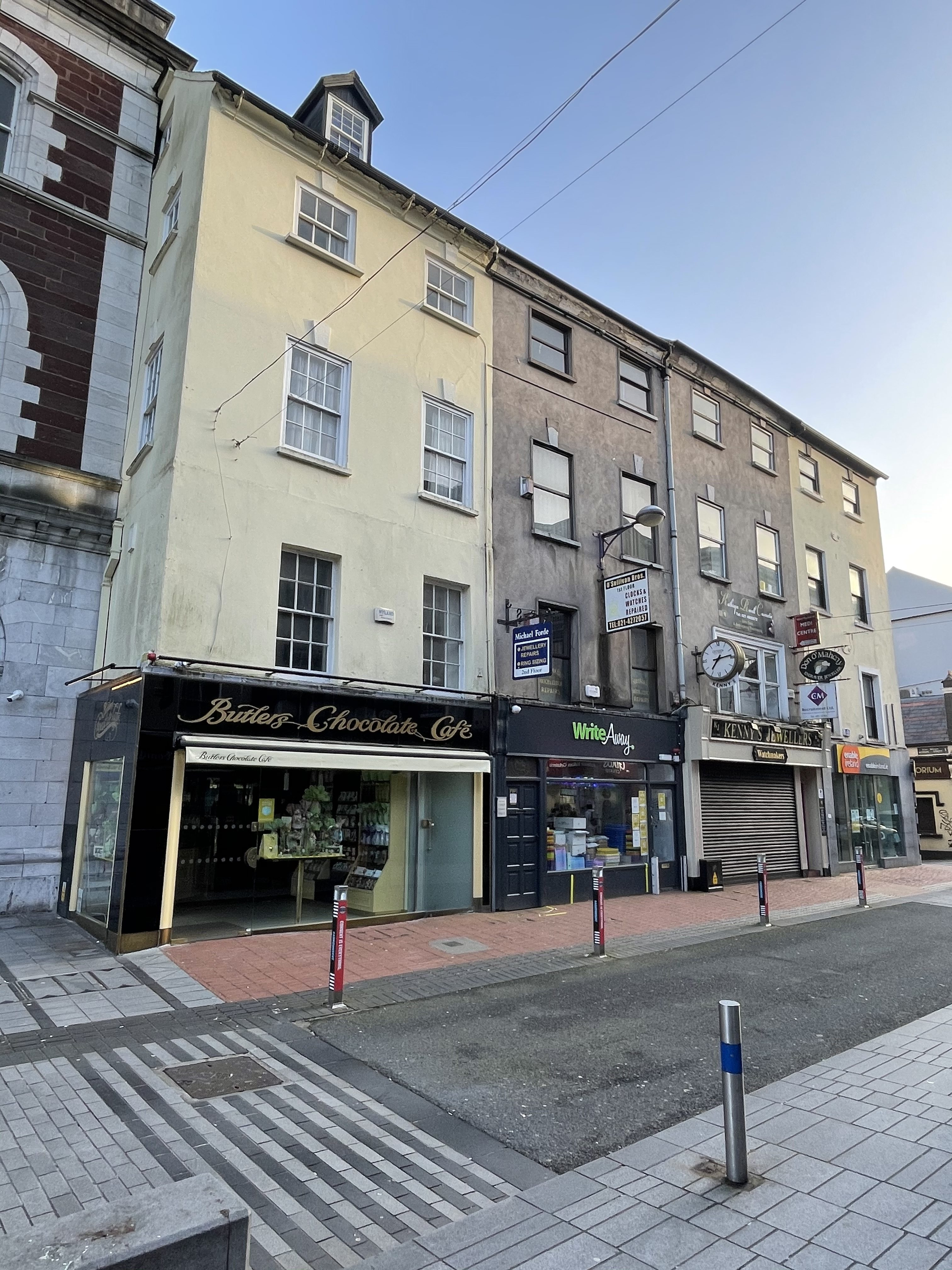 Four two-bay by four-storey with attic premises, c. 1760 (picture: Kieran McCarthy)