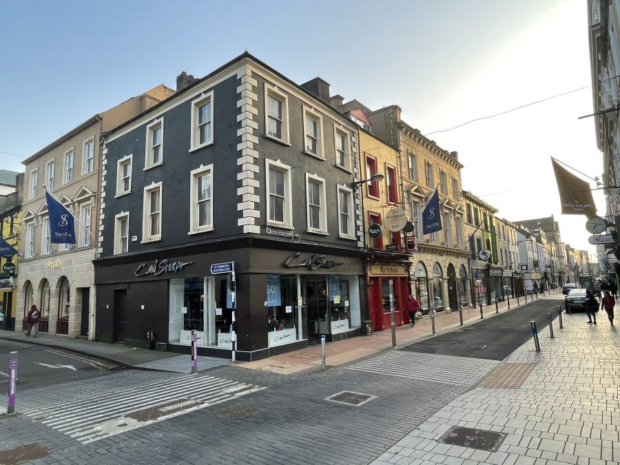 Elaborate nineteenth century structures, Oliver Plunkett Street, Cork, present day (picture: Kieran McCarthy)