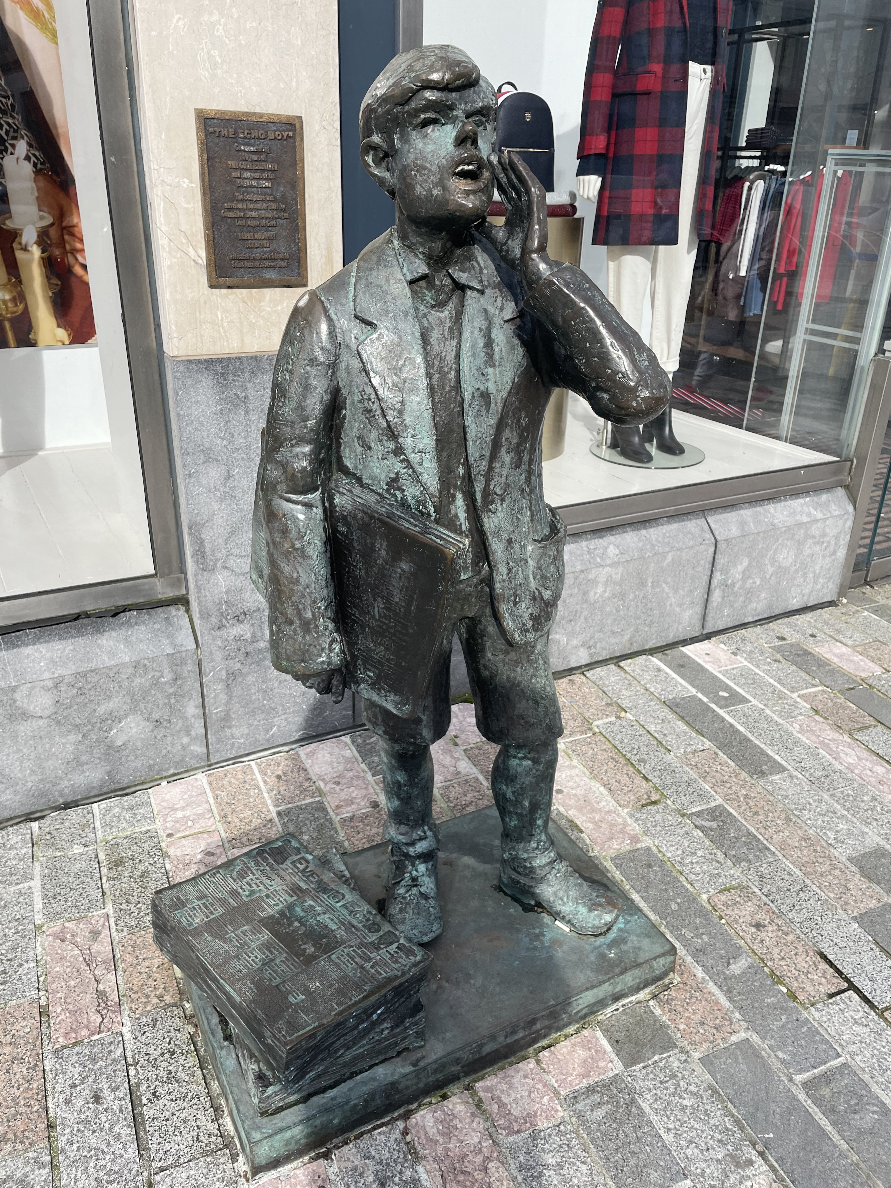Originally, The Echo Boy statue was unveiled on Cook Street on 8 December 1991, but in 2004 was relocated to St Patrick's Street. It was sculpted by Barry Moloney (picture: Kieran McCarthy)