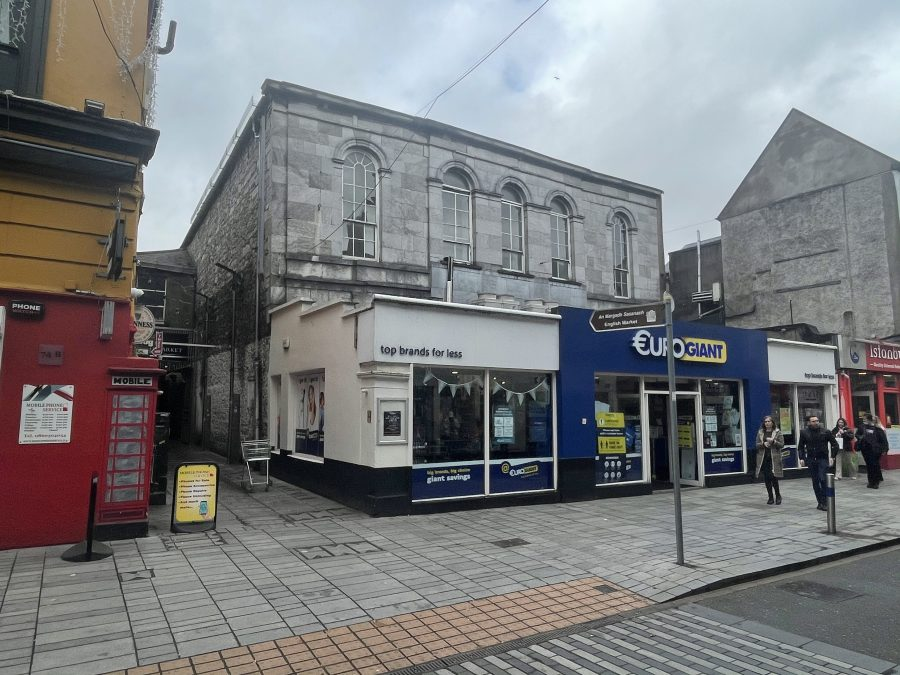 Former Assembly House site; the eighteenth century limestone building is still intact, present day (picture: Kieran McCarthy)