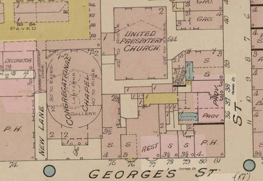 Independent Chapel, 1912, Cork from Goad's Insurance Maps (source: Cork City Library)