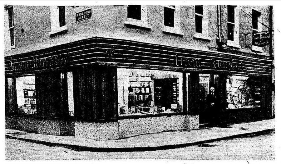 Liam Ruiséal bookshop, Cork  Examiner, 15 December 1967 (source: Cork City Library)