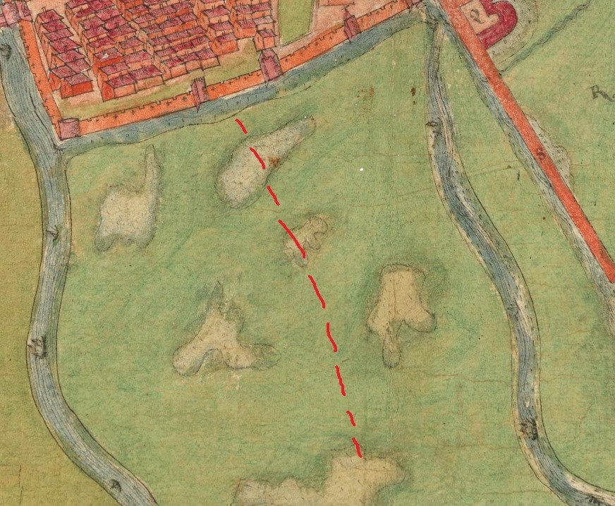 Eastern Marsh, Cork, c.1600 (source: Cork City Library)