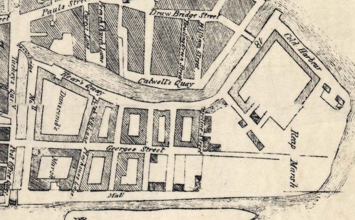 George's Street, Cork, 1750 from Charles Smith's History of Cork (source: Cork City Library)