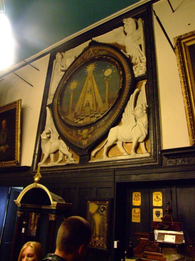 Masonic Lodge motif, Lodge Room, Tuckey Street, Cork, present day (picture: Kieran McCarthy)