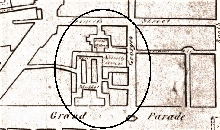Plan of English Market, from Dan Murphy's Map of Cork, 1789 (source: Cork City Library)