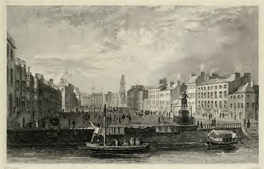 Grand Parade, c.1830 by W H Barlett in G N Wright's Ireland Illustrated (1830).