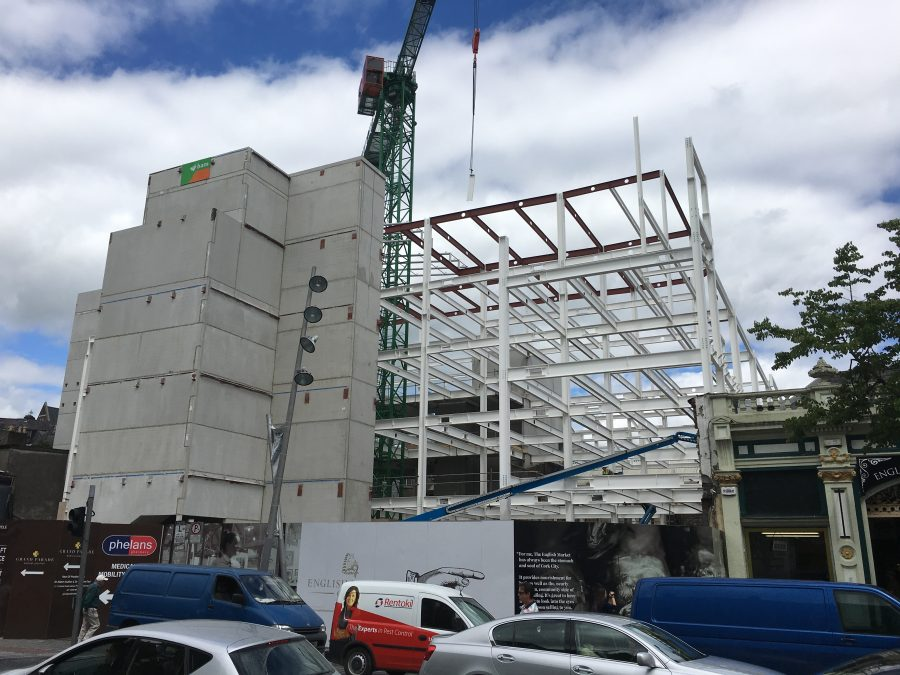 Construction of Capital retail site, Grand Parade, Cork, July 2017 (picture: Kieran McCarthy)