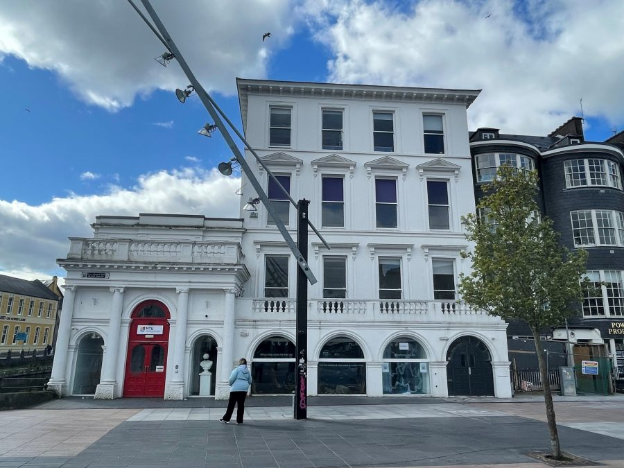 Former City Club premises, now the home of MTU Crawford College of Art  city centre hub for postgrad fine art students , present day (picture: Kieran McCarthy)