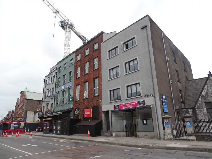 The red brick building is the former RIC Station site on MacCurtain Street, present day (picture: Kieran McCarthy)