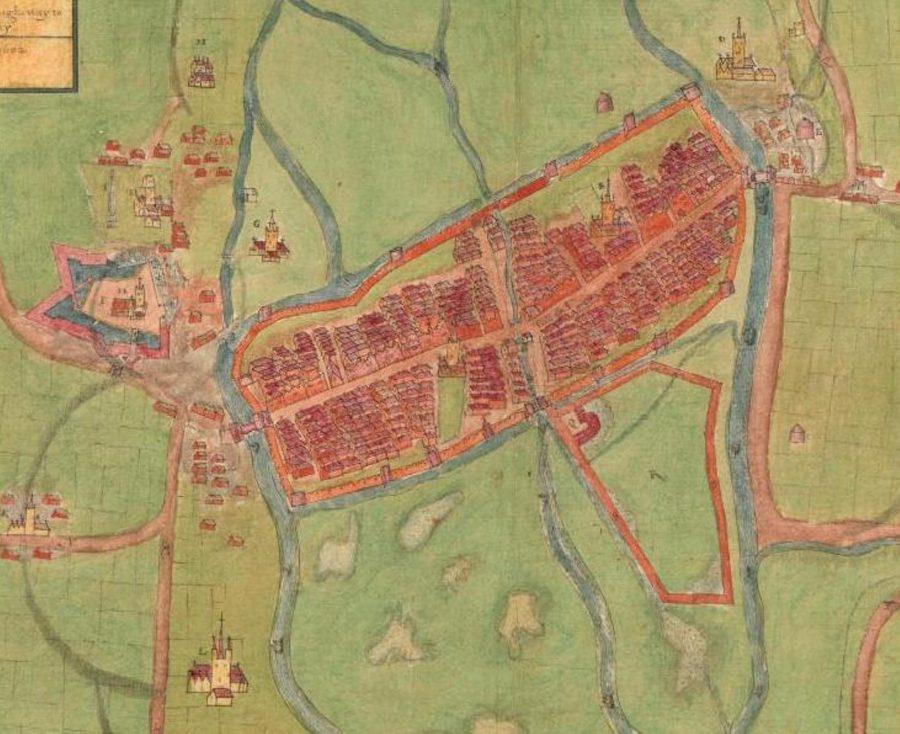 A description of the Cittie of Cork Plan of Cork, circa 1602
