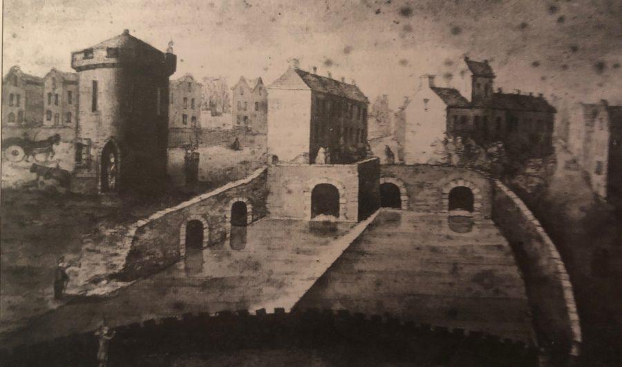 Blackpool Bridge & The Roaring Bridge and Guard House Blackpool 1799 (picture: Cork Public Museum)