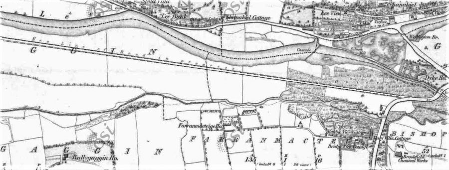 """The """"New Road"""" in the progress of construction, 1836 (source: OSI)"""